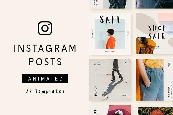 Social Media Templates: Wild Ones - Instagram Animated Posts - Minimal