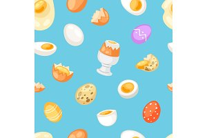 Egg vector easter food and healthy