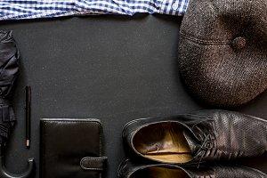 male classic elegant accessories on