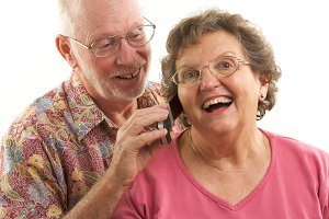Senior Couple and Cell Phone