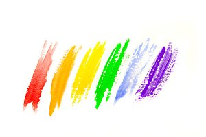 LGBT symbol from watercolor paints.