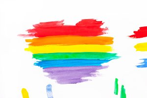 LGBT symbol made from watercolor