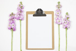 Feminine Clipboard with Flowers
