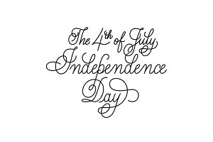 Independence Day vector lettering