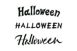 Halloween vector lettering