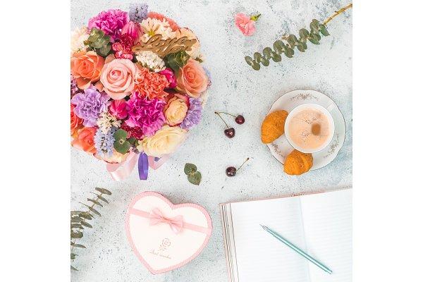 Beautiful bouquet, different flower…