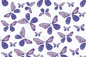 Bright Butterfly Drawing Seamless Pa