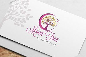 Moon Tree Logo Template