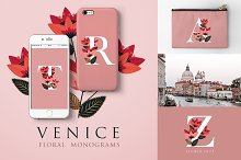 Venice Floral Monograms by  in Logos