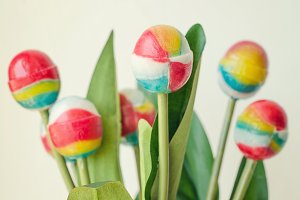 Lollipop Bouquet, Colorful, Sweet