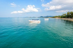 Sea at Na Phralan beach in Samui isl