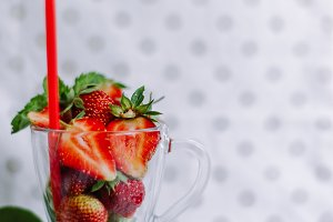 Fresh berries in a glass