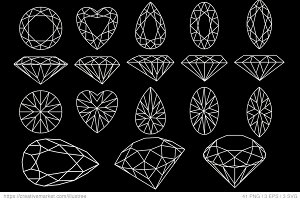 Diamonds vector set
