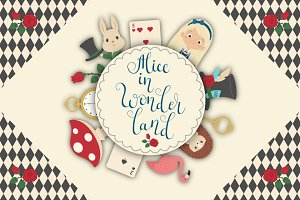 Alice in Wonderland Vector Set