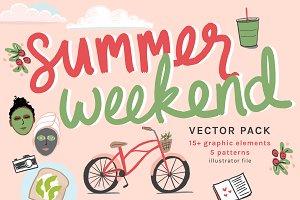 Summer Weekend Vector Pack