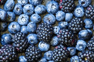 Blackberries, blueberries and raspbe