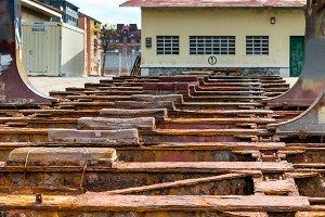 Old shipyard ramp disused