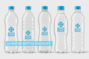 Plastic Water Bottle Mockups Bundle