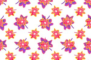 Hand Draw Stars Shapes Pattern