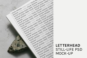 Letterhead Still-life PSD Mock-Up