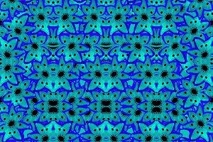 Modern Stars Motif Seamless Pattern