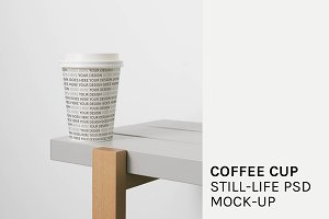 Coffee Cup Still-life PSD Mock-Up