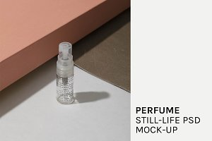 Perfume Still-life PSD Mock-Up