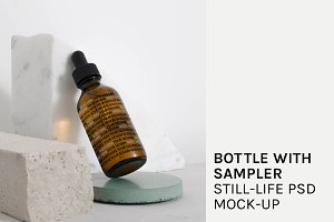 Bottle with Sampler PSD Mock-up
