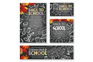 Back to School vector study posters