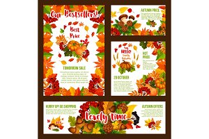Autumn sale price shopping posters