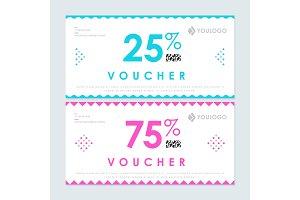 25 and 75 per cent vouchers