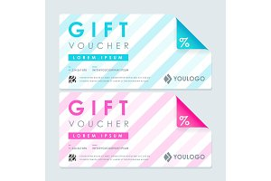 Gift voucher with lines template
