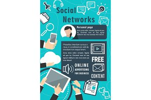 Social network communication vector