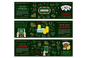 Online casino poker jackpot banners