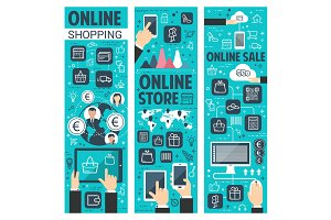 Online shopping banners for retail