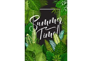Tropical summer holiday banner