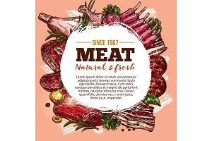 Vector poster for meat shop