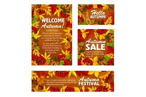 Autumn sale fall festival poster