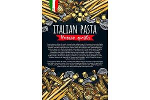Italian pasta vector poster