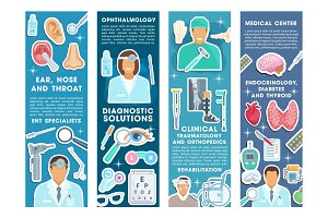 Medical banners for health medicine