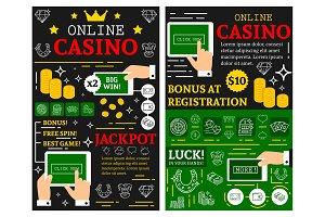 Online casino poker jackpot posters