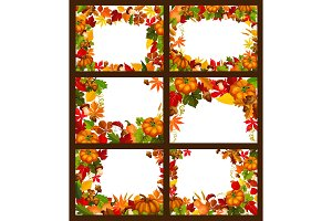 Autumn season and fall frame poster