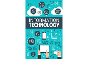 Information technology data poster