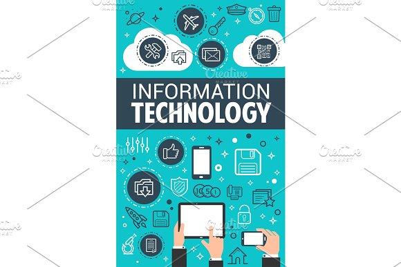 Information technology data poster