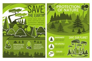 Save Earth poster of environment
