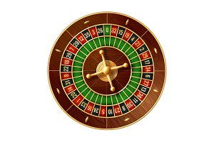 Casino roulette wheel 3d gamble game