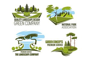 Landscape design company icons