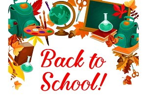 Back to school poster of education