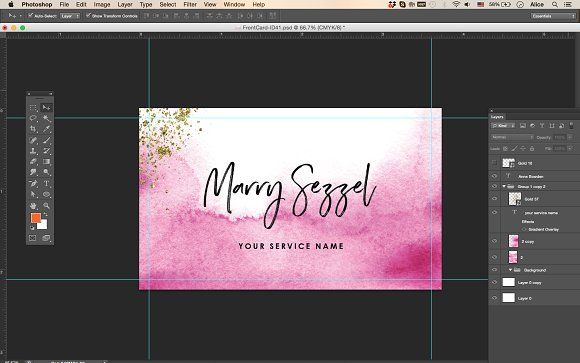 Ombre Watercolour Name Card ID Business Card Templates - Business card templates