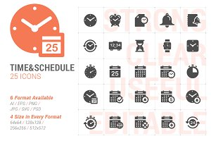 Time & Schedule Filled Icon